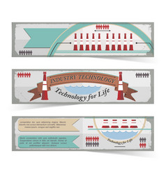 industry technology banners set vector image