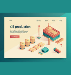 is written oil production vector image