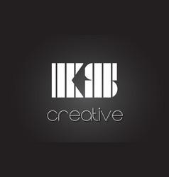 ks k s letter logo design with white and black vector image