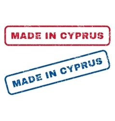 Made In Cyprus Rubber Stamps vector