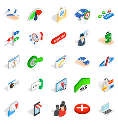 Manpower icons set isometric style vector