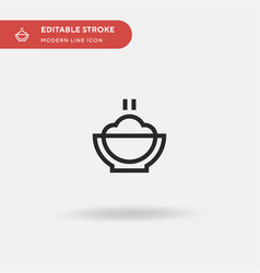 Mashed potatoes simple icon vector