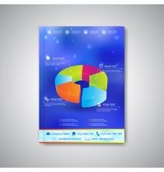 Modern template brochure magazine flyer booklet vector