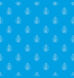 mole pattern seamless blue vector image