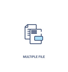 Multiple file concept 2 colored icon simple line vector