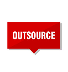 Outsource red tag vector