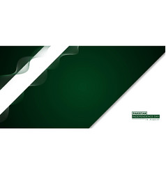 Pakistan independence day with green and white vector