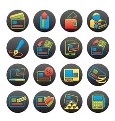 POS terminal and ATM icons vector