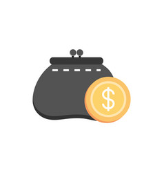 Purse coin cash money business finance vector