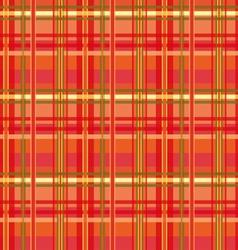 Red Tartan vector image