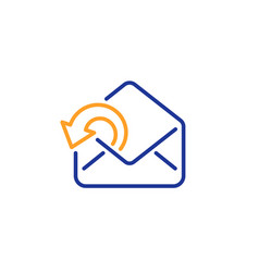 send mail download line icon sent messages vector image