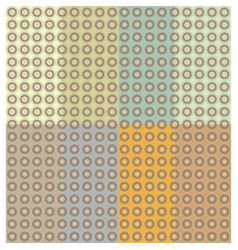 Set circles earthtones pattern seamless vector