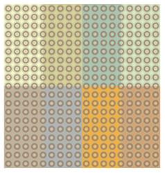 set circles earthtones pattern seamless vector image