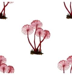 Set of watercolor mushrooms vector image
