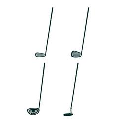 Set og golf clubs vector