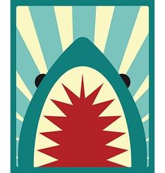 Shark poster vector