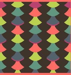 Simple seamless pattern with retro design vector
