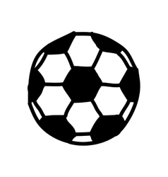 soccer balloon drawing isolated icon vector image