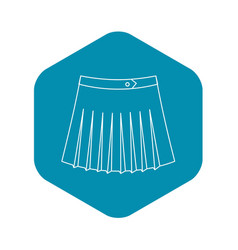 tennis female skirt icon outline style vector image