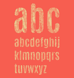 The letters of the latin alphabet vector