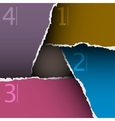Torn paper number background vector image vector image