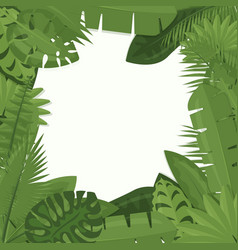 tropical green leaves of vector image
