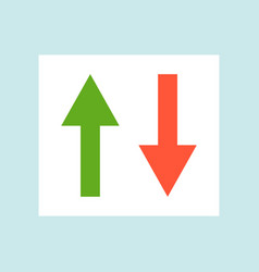 Up and down arrow change sub player flat design vector
