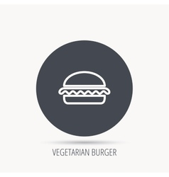 Vegetarian burger icon Fast food sign vector
