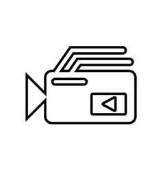 Video camera icon with a white background vector