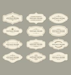 vintage retro borders and frames ornate labels vector image