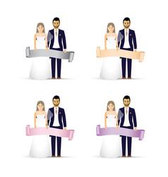 wedding couple as an icon vector image