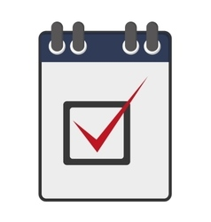 wired notebook with check list icon vector image