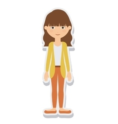 young woman female isolated vector image