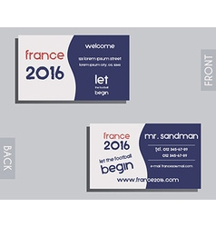 Brand identity elements - visiting card template vector image vector image