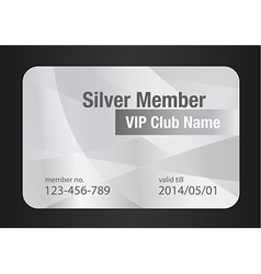 Silver VIP Club Card vector image vector image