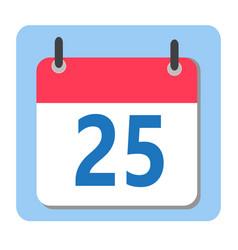 Christmas date - 25 december modern calendar icon vector