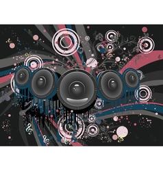 Grunge Loud Speaker2 vector image vector image