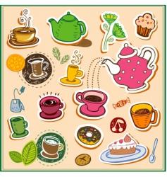 I love tea vector image vector image