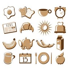 Morning symbol set vector image vector image