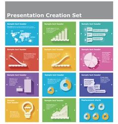 presentation elements vector image