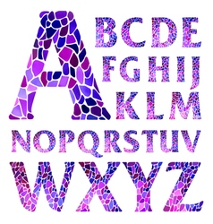 Watercolor mosaic typographic letters vector image vector image