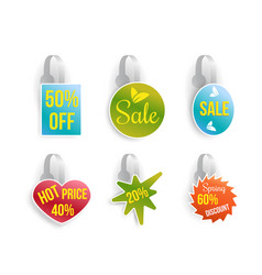 wobbler set with advertising sale text vector image vector image