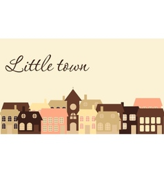 Card with a beautiful little town vector image