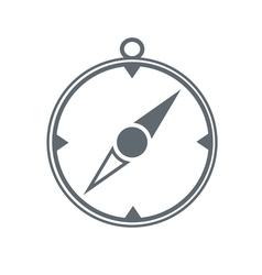 Compass icon isolated black vector image