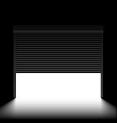 garage door with rolling shutters inside view vector image