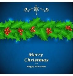 Green Christmas garland of holl vector image