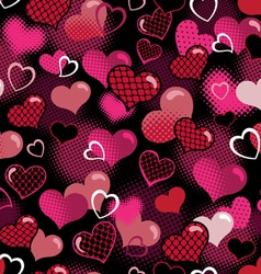 hot valentine seamless background vector image vector image
