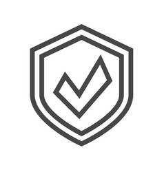 protection thin line icon vector image