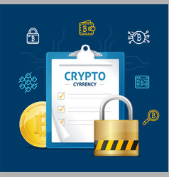 realistic 3d detailed bitcoin currency concept vector image vector image