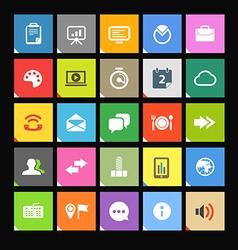 Web color tile interface template vector